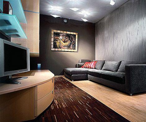 Apartment Interior in Dark Tones