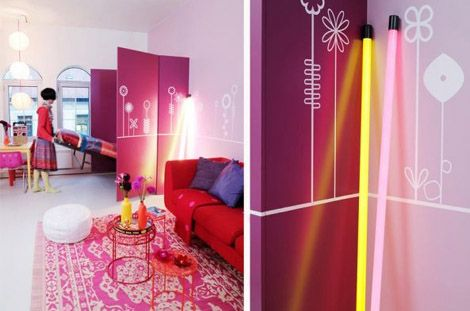 Colourful Pink and Red Apartment from Krakvik and D`Orazio