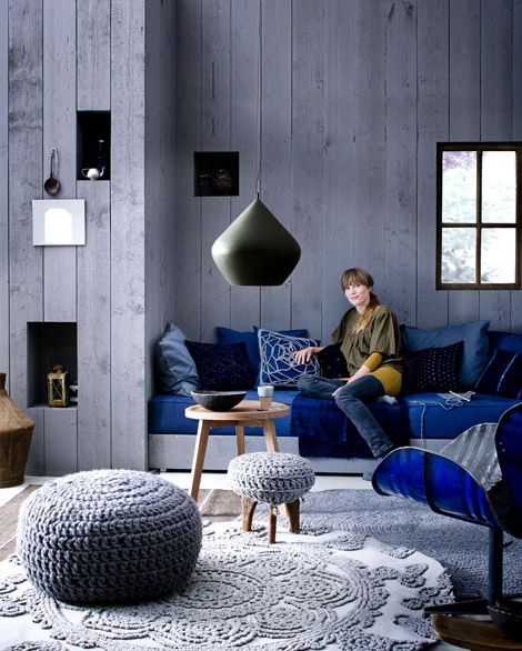 Indigo colour for decoration