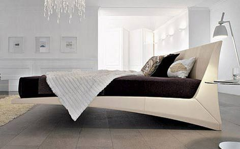 The floating Dylan Bed from Cattelan Italia