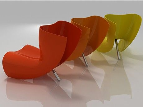 Contemporary Fiberglass Chair from Cappellini