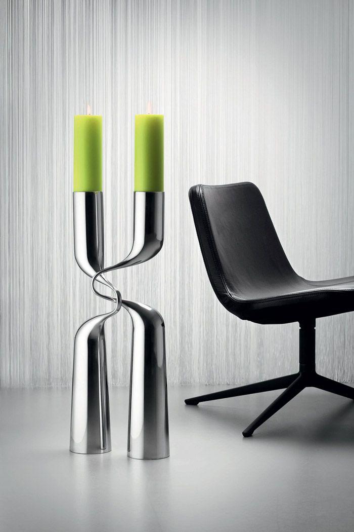 XL – Enormous Modern Candlesticks by Mikaela Dorfel