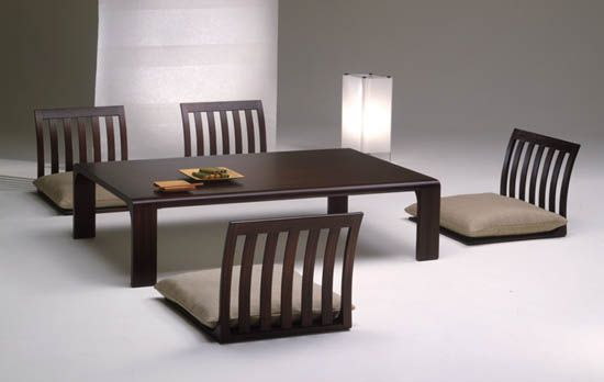 Zataku and Zaisu – Table and Chairs in Japanese style