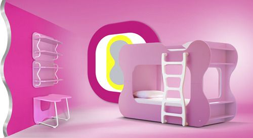 Dazzling Curved Furniture for Kids by Karim Rashid