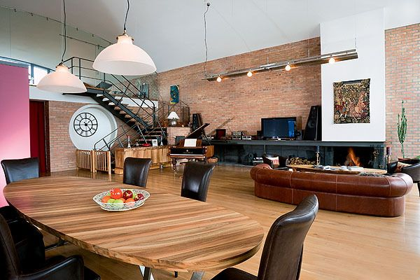 Tunnel House with Loft Style Interior