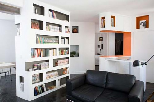 6 Rooms Apartment at 60 Square Meters by H2O Architectes 2