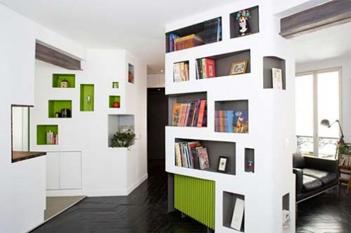 6 Rooms Apartment at 60 Square Meters by H2O Architectes 4