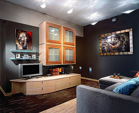 Apartment Interior in Dark Tones 2
