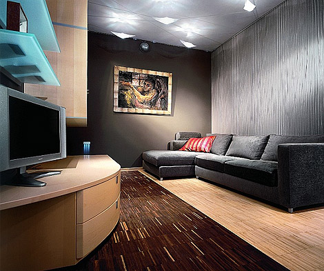Apartment Interior in Dark Tones
