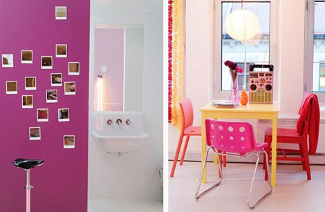 Colourful Pink and Red Apartment from Krakvik and D`Orazio 2