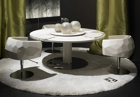 Crystal - elegant chair from Fendi Casa 2