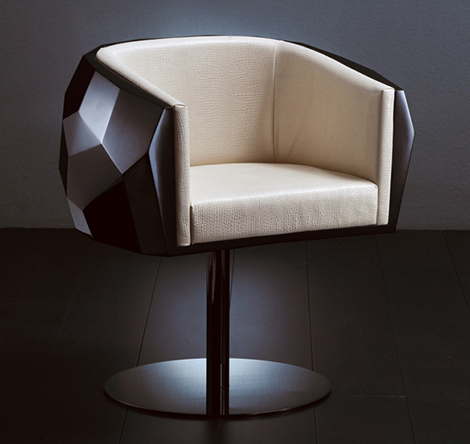 Crystal - elegant chair from Fendi Casa
