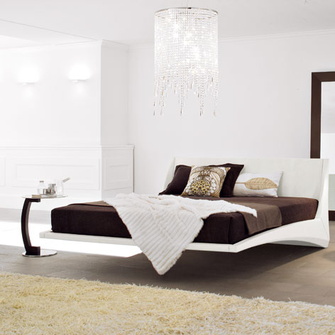 Dylan floating bed-bianco
