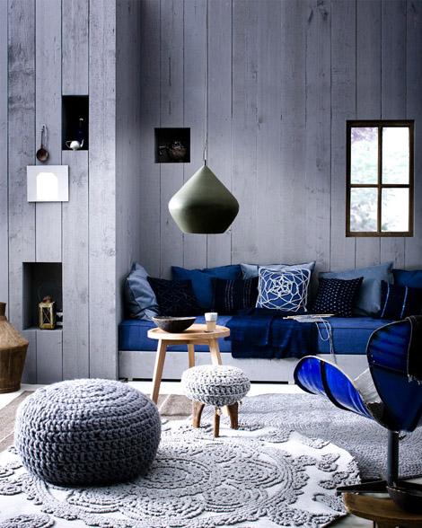 Indigo colour for decoration