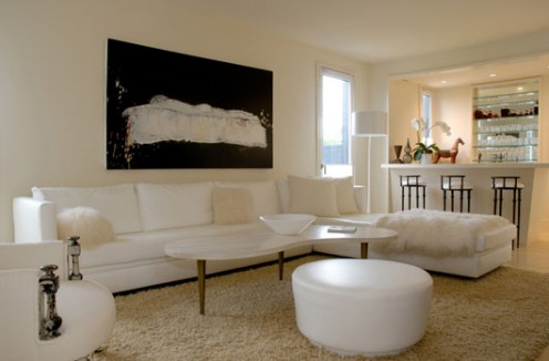 Interior in white in New York 11