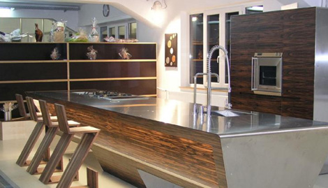 Kitchen Wood and Steel Design from Unikat 5