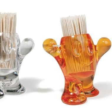 PIX NIX transparent toothpick holders