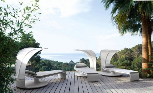 Summer Cloud - Curved Outdoor Lounger By Dedon 2