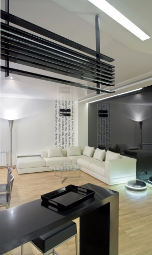 Black and white interior gallery