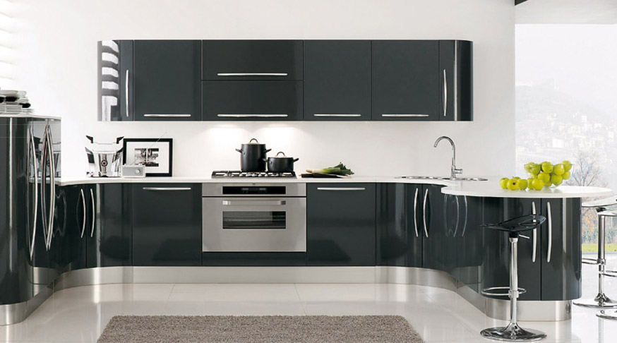Curved kitchen from record cucine best home news ll for Modern kitchen designs 2009