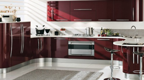 Curved kitchen design Venere