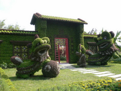 Amazing Gardens with Figures from Plants 3