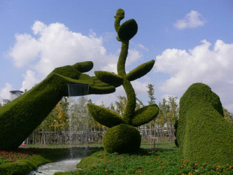 Amazing Gardens with Figures from Plants