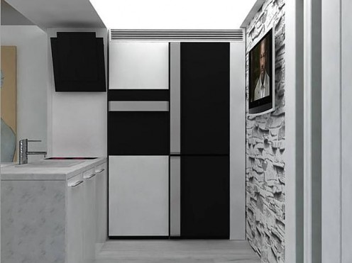 Artistic White Apartment with Black Accents 3