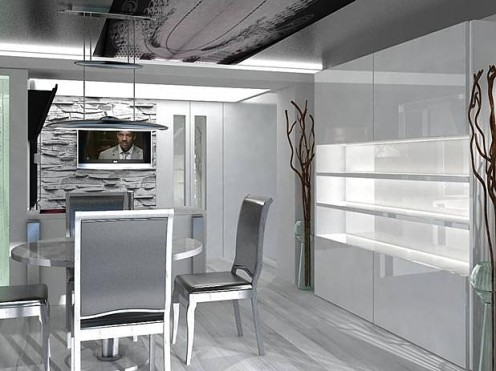 Artistic White Apartment with Black Accents 4