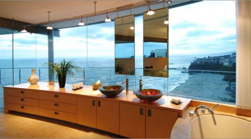 Beach House from Glass, Stone and Steel by McClean Design 7
