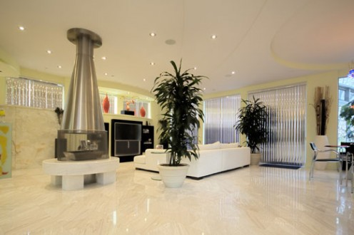 Mi Sueno - Contemporary Architectural Masterpiece-fireplace