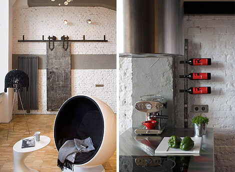 Eccentric Apartment Interior with Red Accents 4