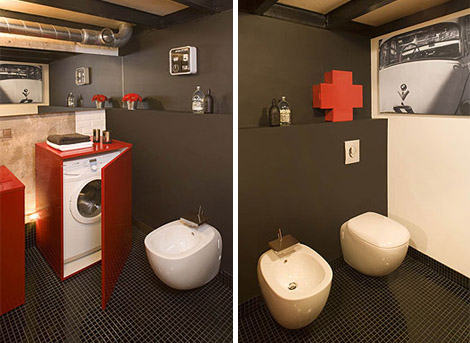 Eccentric Apartment Interior with Red Accents 7