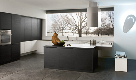 Modern Italian Kitchen in Black by Futura Cucine