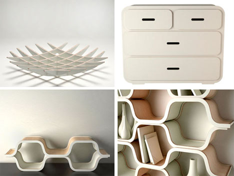 Storage Ideas - Contemporary Curved Stands 3