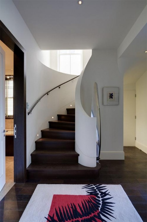 Къщата на Kelly... Luxurious-flat-in-hampstead-by-stephen-fletcher-architects-stair-496x748