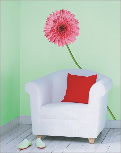 Wall Decoration with Flowers Stickers