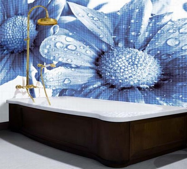Amazing glass mosaic tiles for bathroom by glassdecor for Mosaic tile designs for bathrooms