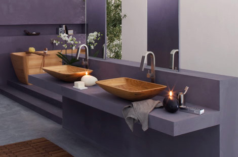 Italian Bathroom from Wood by Francoceccotti