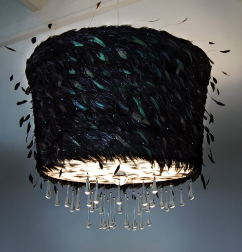 Amazing Chandeliers by ABYU Lighting - Nimbus pattern black