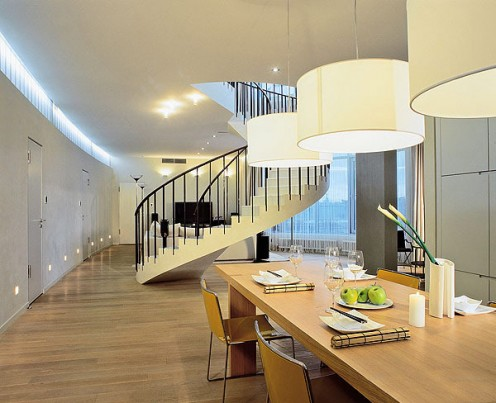 Two-level Apartment with a Minimalist Interior Design