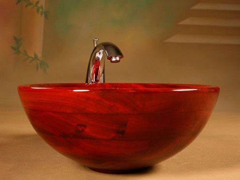 eElegant Waterproof Wood Washbasins and Bathubs by UWD