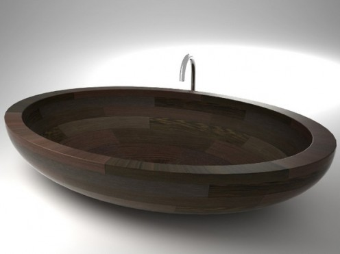 Elegant Waterproof Wood Washbasins and Bathubs by UWD