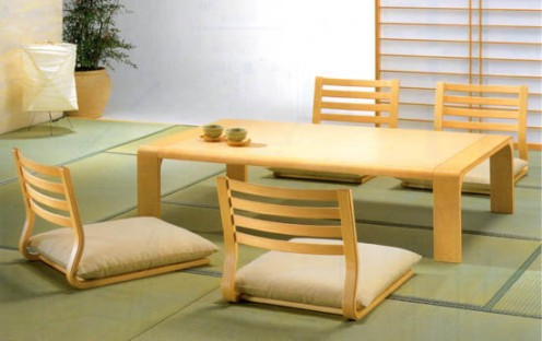 Zataku and Zaisu - Table and Chairs in Japanese style
