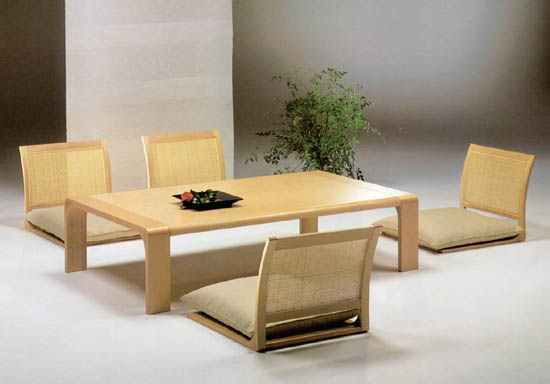 Zataku And Zaisu Table And Chairs In Japanese Style Best Home News Ll About Interior