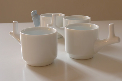 Bird in the Bush - Beautiful Ceramic Cups by Chris Koens
