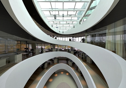Cocoon HQ - Spiral Building by Camenzind Evolution