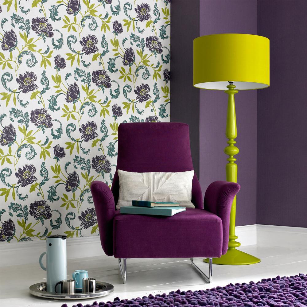 Interior Design Purple Living Room The Kings Cake Bedroom Purple Green Yellow Interior Design