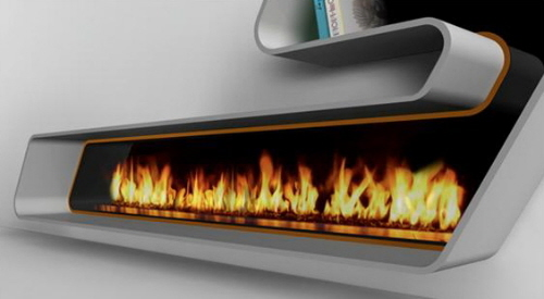 Contemporary Eco Fireplaces For Small Spaces Best Home News Ll About Interior Design
