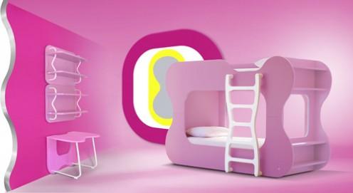 Dazzling Curved Furniture for Kids by Karim Rashid